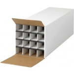 "Safco® Tube-Stor KD Roll File; Color: White/Ivory; Material: Fiberboard; Size: 37""d x 12 3/4""w x 12""h; (model 3098), price per each"