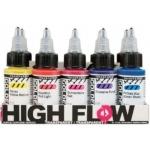 Golden® High Flow Acrylic 10-Color Set; Color: Multi; Format: Bottle; Size: 1 oz; Type: Acrylic; (model 0000953-0), price per set