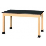 "Shain 54"" x 24"" Plain Student Table Epoxy Resin Top"