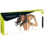 Prismacolor® Premier Brush Marker Portrait Set 24CT; Color: Multi; Double-Ended: Yes; Ink Type: Alcohol-Based, Dye-Based; Tip Type: Brush Nib, Fine Nib; (model SN1850849), price per set