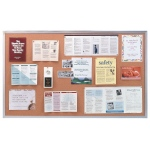 Ghent® Aluminum Frame Traditional Cork Bulletin Board 4' x 4'; Size: 4' x 4'; Type: Cork Board; (model AK44), price per each
