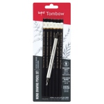 Tombow® Mono® Drawing Pencils 6 Piece Set; Color: Black/Gray; Format: Pencil; Type: Drawing; (model 61002), price per set