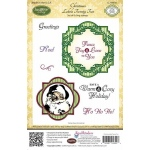 JustRite Christmas Labels Twenty Two Cling Stamps