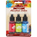 Ranger Tim Holtz Adirondack Alcohol Ink Kits: Brights Dockside Picnic, Watermelon, Citrus, Sail Boat Blue