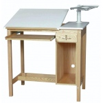 SMI Oak 1 Drawer Computer Table: 30 x 42