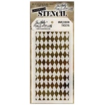 Stampers Anonymous Tim Holtz Harlequin Layering Stencil