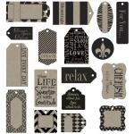 Canvas Corp Printed Tags: Black On Kraft