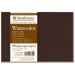 "Strathmore® 400 Series Soft Cover Watercolor Journal 8"" x 5.5"": Sewn Bound, White/Ivory, Journal, 48 Pages, 5 1/2"" x 8"", Cold Press, Watercolor, 140 lb, (model ST483-5), price per each"