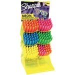 Sharpie® Neon Permanent Marker 144-Piece Counter Display: Multi, Fine Nib, (model SN1866426D), price per each