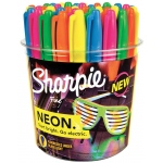 Sharpie® Neon Permanent Marker 36-Piece Display; Color: Multi; Tip Type: Fine Nib; (model SN1875609D), price per each