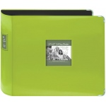 "Pioneer® 12"" x 12"" XL D-Ring Leatherette Scrapbook Binder Lime Green; Color: Green; Material: Leatherette; Size: 12"" x 12""; (model T12JF/CGN), price per each"