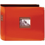 "Pioneer® 12"" x 12"" XL D-Ring Leatherette Scrapbook Binder Bright Orange; Color: Orange; Material: Leatherette; Size: 12"" x 12""; (model T12JF/COR), price per each"