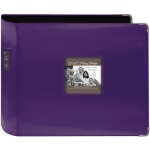 "Pioneer® 12"" x 12"" XL D-Ring Leatherette Scrapbook Binder Dark Purple; Color: Purple; Material: Leatherette; Size: 12"" x 12""; (model T12JF/CPR), price per each"