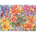 "Reeves™ Large Acrylic Painting By Numbers Set Floral; Size: 12"" x 15 1/2""; (model PL63), price per each"