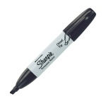 Sharpie® Chisel Point Permanent Marker Black: Black/Gray, Chisel Nib, (model SN38201/BX), price per box