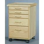SMI Oak 5 Drawer Taboret