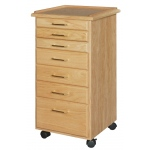 SMI Oak 7 Drawer Taboret