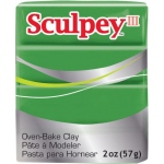 Sculpey® III Polymer Clay String Bean: Green, Bar, Polymer, 2 oz, (model S3021628), price per each