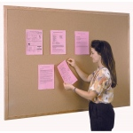 Ghent® Wood Frame Traditional Cork Bulletin Board 4' x 10'; Size: 10' x 4'; Type: Cork Board; (model WK410), price per each