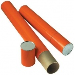 "Alvin® Orange Fiberboard Tubes 37""; Color: Orange; Diameter: 4""; Length: 37""; Material: Fiberboard; (model T418-37/BX), price per box"