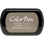 ColorBox® Full Size Archival Dye Ink Pad Sude; Color: Brown; Format: Pad; Ink Type: Dye-Based; Shape: Full Size Rectangle; (model CS27031), price per each