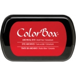 ColorBox® Full Size Archival Dye Ink Pad Geranium; Color: Red/Pink; Format: Pad; Ink Type: Dye-Based; Shape: Full Size Rectangle; (model CS27032), price per each