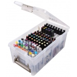 "Artbin® Marker Storage Satchel: 64 Markers, Clear, Plastic, 15 1/4""l x 8""w x 6 1/4""h, Storage Box, (model 6934AB), price per each"