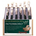 Dynasty® Interboro® Bristle Oil and Acrylic Brush 1500A Display Assortment; Length: Long Handle; Material: Bristle; Type: Display Assortment; (model FM10620D), price per each