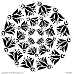 "The Crafter's Workshop 6"" x 6"" Design Template Fly Bird Doily: 6"" x 6"", Patterned Stencil, (model TCW374S), price per each"