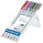 Staedtler® Triplus® Fineliner Pens 6-Color Nature Set ; Color: Multi; Tip Size: .3mm; Tip Type: Super Fine Nib; Type: Multi; (model 334SB6NAT), price per set