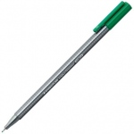 Staedtler® Triplus® Triplus Green Fineliner Pen ; Color: Green; Tip Size: .3mm; Tip Type: Super Fine Nib; Type: Multi; (model 334-5), price per each