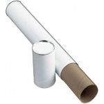 "Alvin® White Fiberboard Tubes 25""; Color: White/Ivory; Diameter: 3""; Length: 25""; Material: Fiberboard; (model T417-25/BX), price per box"