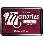 Memories™ Chalk Ink Pad Delicate Rose; Color: Red/Pink; Format: Pad; Ink Type: Chalk; Shape: Full Size Rectangle; (model SSCMDR), price per each