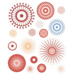 """Blue Hills Studio™ ColorStories™ Cardstock Stickers Red; Color: Red/Pink; Material: Paper; Size: 4 3/4"""" x 5 3/4""""; Type: Flat; (model BHS10105), price per each"""