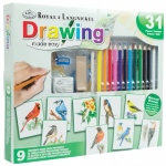 Royal & Langnickel® Drawing Made Easy™ Activity Sets PDQ: Multi, Pencil, Drawing, (model AME-101D), price per each