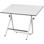 "Alvin® EZ Fold Table White 30 x 42; Angle Adjustment Range: 0 - 70; Base Color: White/Ivory; Base Material: Steel; Height Range: 30 1/2"" - 44""; Top Color: White/Ivory; Top Size: 30"" x 42""; (model EZ42-4), price per each"