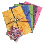 "Blue Hills Studio™ Treasure Chest™ Card Kit Marble Sequin Multi: Multi, Envelope Included, Card, 4 1/8"" x 5 5/8"", (model BHS303), price per pack"