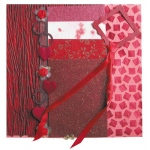 "Blue Hills Studio™ Treasure Chest™ Paper Collection Embellishment Pack Ruby; Color: Red/Pink; Material: Paper; Size: 12"" x 12""; Type: Dimensional; (model BHS204), price per pack"