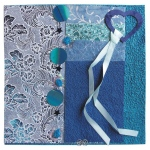 "Blue Hills Studio™ Treasure Chest™ Paper Collection Embellishment Pack Sapphire: Blue, Paper, 12"" x 12"", Dimensional, (model BHS205), price per pack"