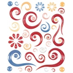 """Blue Hills Studio™ ColorStories™ Epoxy Swirl Stickers Red; Color: Red/Pink; Material: Epoxy; Size: 4 3/4"""" x 5 3/4""""; Type: Dimensional; (model BHS10107), price per each"""