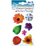"Blue Hills Studio™ Irene's Garden™ Perfect Petals Stickers Mix B; Color: Multi; Size: 3 1/8"" x 4 3/4""; Type: Dimensional; (model BHS008), price per each"