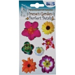 "Blue Hills Studio™ Irene's Garden™ Perfect Petals Stickers Mix C: Multi, 3 1/8"" x 4 3/4"", Dimensional, (model BHS009), price per each"
