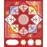 """Blue Hills Studio™ ColorStories™ Cardstock Stickers Red; Color: Red/Pink; Material: Cardstock; Size: 4 3/4"""" x 5 3/4""""; Type: Flat; (model BHS10114), price per each"""