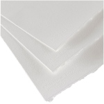"Canson® Moulin du Roy 22"" x 30"" Rough Sheets 140 lb.; Color: White/Ivory; Format: Sheet; Size: 22"" x 30""; Texture: Rough; Type: Watercolor; (model C400014791), price per sheet"
