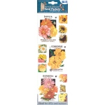 "Blue Hills Studio™ Irene's Garden™ Seed Packet Fabric Stickers Yellow: Yellow, 9"", Flat, (model BHS012), price per each"