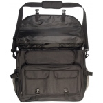 Heritage Deluxe Travel Messenger Bag: Black