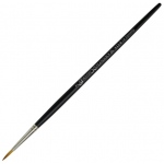 Dynasty® Faux Kolinski Round Brush Size 3: Long Handle, Synthetic, Round, Acrylic, (model FM36955), price per each