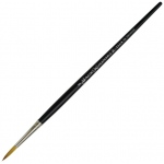 Dynasty® Faux Kolinski Round Brush Size 5: Long Handle, Synthetic, Round, Acrylic, (model FM36957), price per each