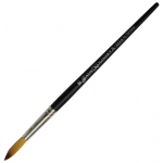 Dynasty® Faux Kolinski Round Brush Size 10: Long Handle, Synthetic, Round, Acrylic, (model FM36961), price per each