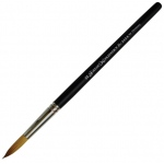 Dynasty® Faux Kolinski Round Brush Size 12: Long Handle, Synthetic, Round, Acrylic, (model FM36962), price per each